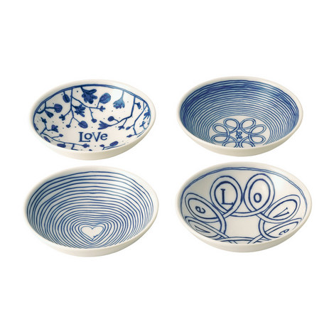 Set of 4 ED Love Bowls, ${color}