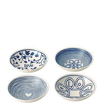Set of 4 ED Love Bowls