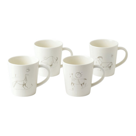 ED Cave Painting Mugs Set of 4, ${color}