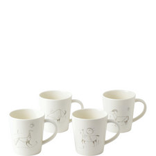 ED Cave Painting Mugs Set of 4