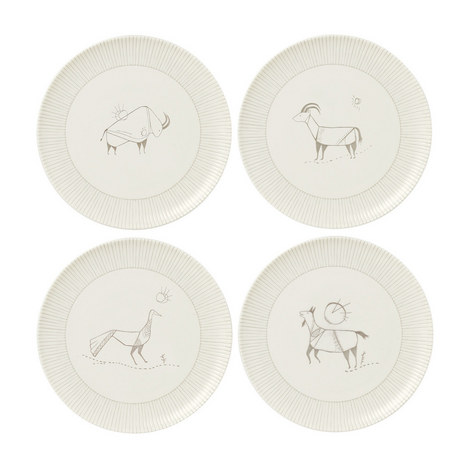 ED Cave Painting Plates 21cm Set of 4, ${color}