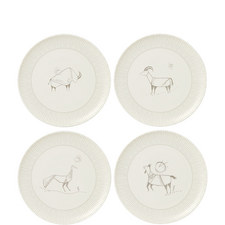 ED Cave Painting Plates 21cm Set of 4