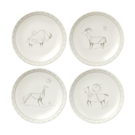 ED Cave Painting Plates 16cm Set of 4, ${color}