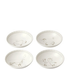 ED Cave Painting Bowls Set of 4