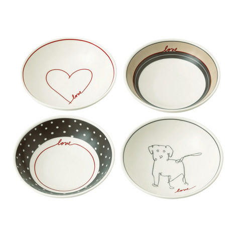 Set of 4 ED Signature Love Bowls 14cm, ${color}
