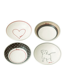 Set of 4 ED Signature Love Bowls 14cm