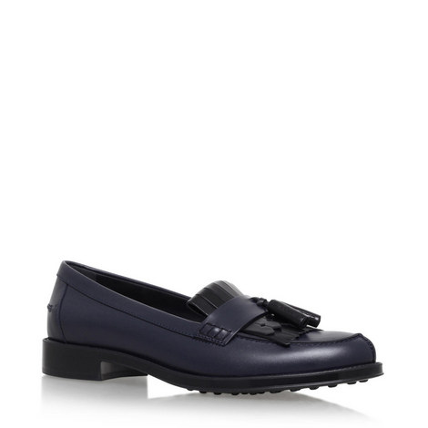 Gomma Fringed Loafers, ${color}