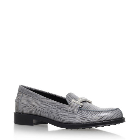 Gomma Snake Effect Loafers, ${color}