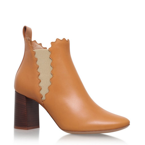 Lauren Scalloped Edge Ankle Boots, ${color}