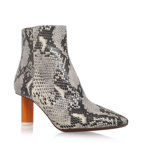 Lighter Heel Embossed Ankle Boots, ${color}