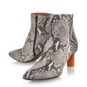 Lighter Heel Embossed Ankle Boots, ${color}