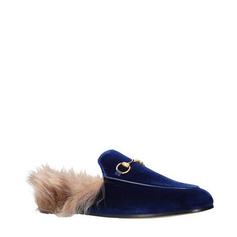 Princetown Velvet Shearling Slides, ${color}