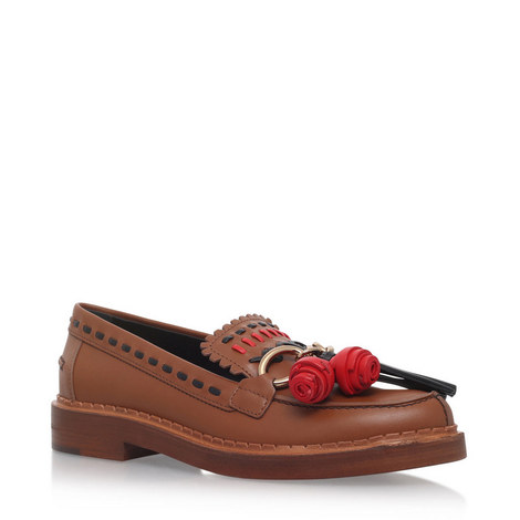 Charmed Leather Loafers, ${color}