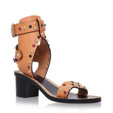 Jaeryn Cabochon Leather Sandals