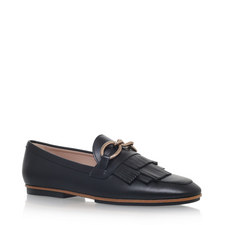 Fringed Vamp Loafers