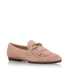 Fringed Vamp Loafers