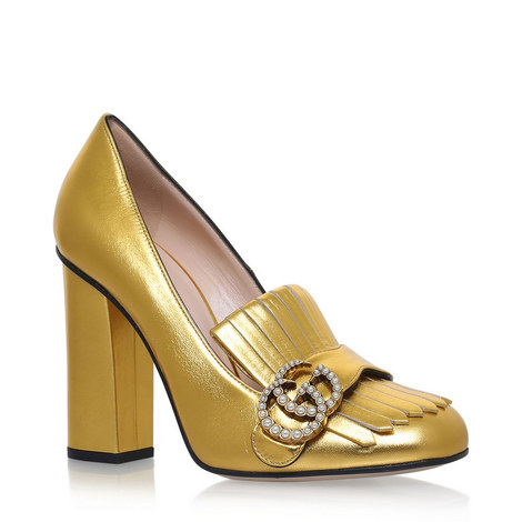 Marmont Block Heel Loafers, ${color}