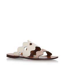Lauren Scalloped Leather Sandals