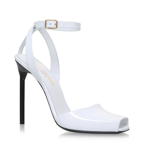 f8219a096534 SAINT LAURENT Edie 110 Peep Toe Sandals