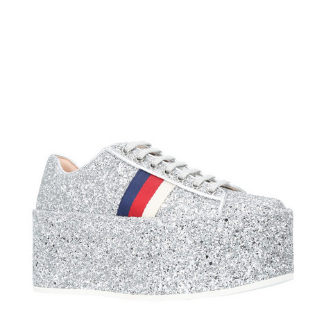 Peggy Glitter Platform Trainers, ${color}