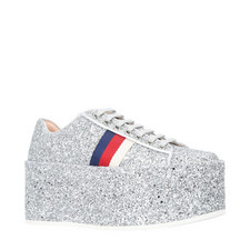 Peggy Glitter Platform Trainers