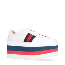Peggy Leather Platform Trainers