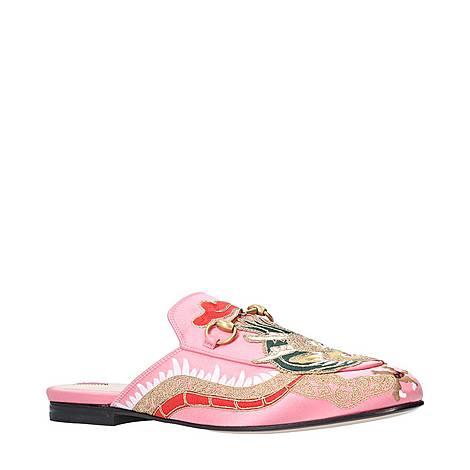 Princetown Dragon Satin Slides, ${color}