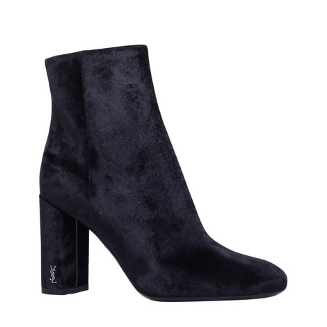 Loulou Monogram Ankle Boots, ${color}