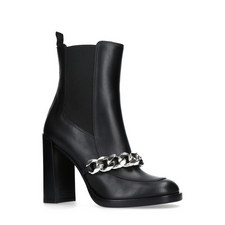 Chain Link Heeled Boots