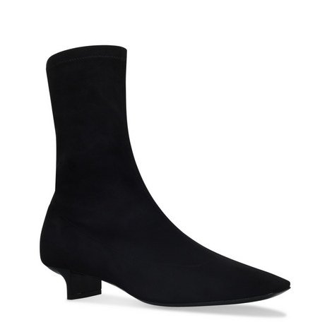 Tapered Stretch Ankle Boots, ${color}