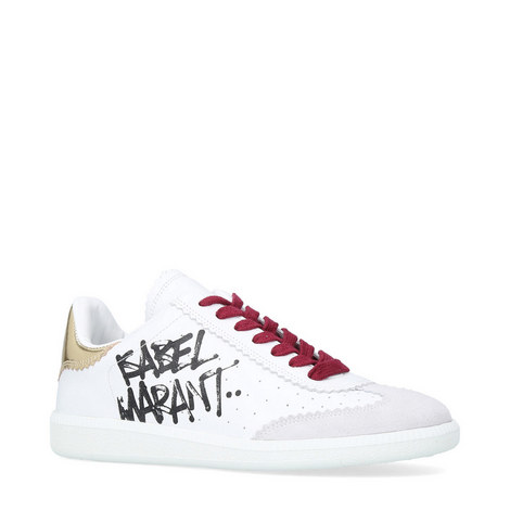 Bryce Accented Leather Trainers, ${color}