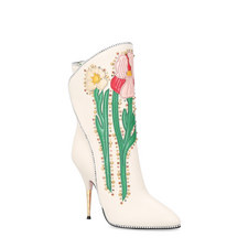Fosca Appliqued Leather Boots