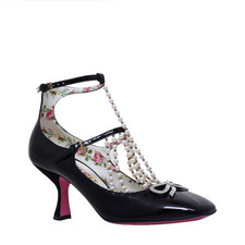 Pearl T-Strap Mary-Jane Courts