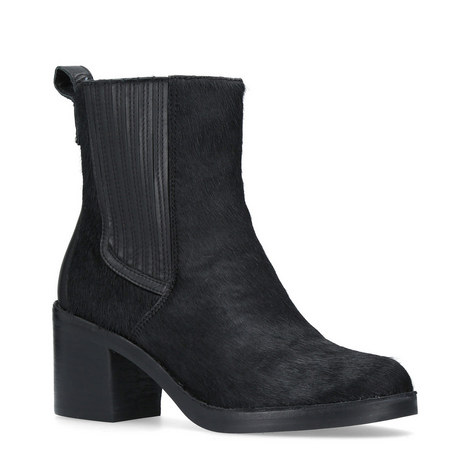 Camden Ponyhair Ankle Boots, ${color}