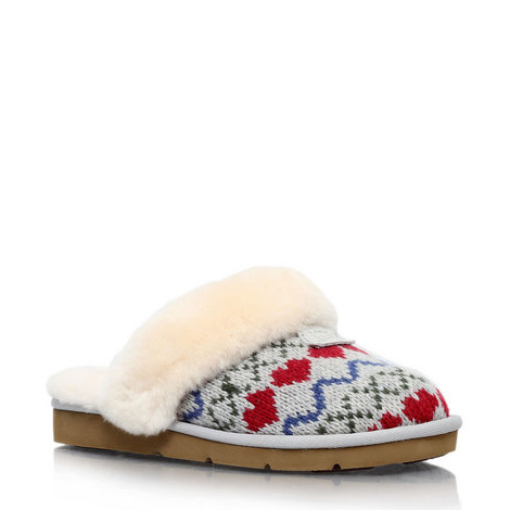 Cozy Knit Heart Slippers, ${color}