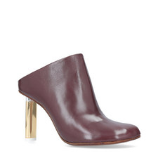 Facet Heeled Mules