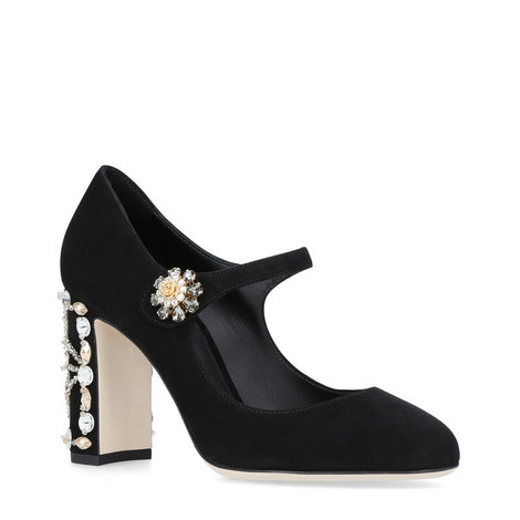 Embellished Suede Mary-Janes, ${color}