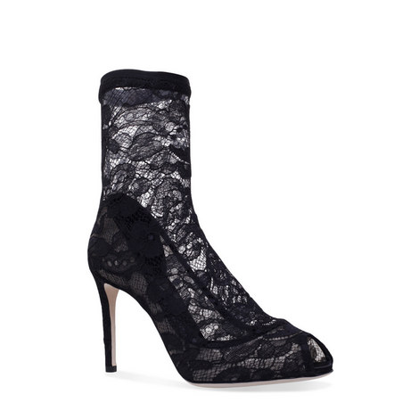 Peep Toe Lace Boots, ${color}