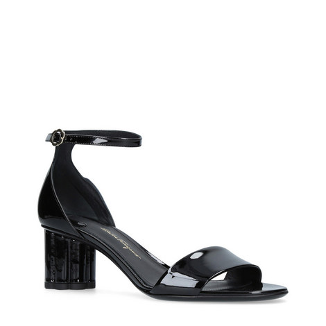 Mid-Heel Patent Leather Sandals, ${color}