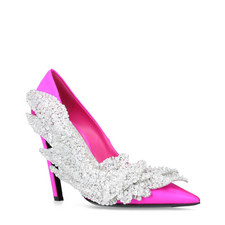 Sequin Satin Pumps