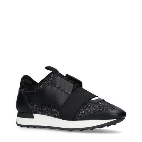 Glitter Lurex Race Runner Trainers, ${color}