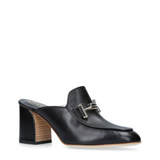 Double T Heeled Mules