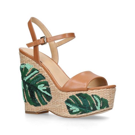 a673d9e524e Fisher Palm Embroidered Wedge Sandals