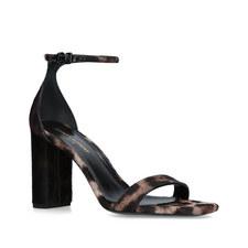 Lou Lou Leopard Heeled Sandals