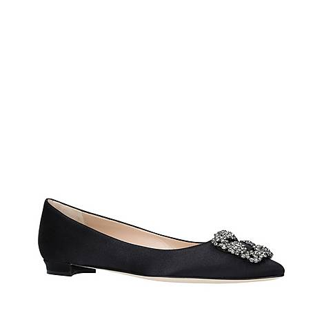 Hangisi Jewel Buckle Flat Shoes, ${color}