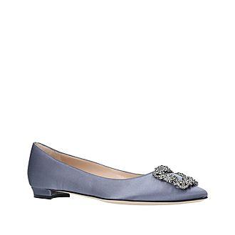 Hangisi Jewel Buckle Flat Shoes