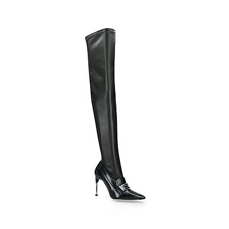 Over The Knee Stretch Boots, ${color}