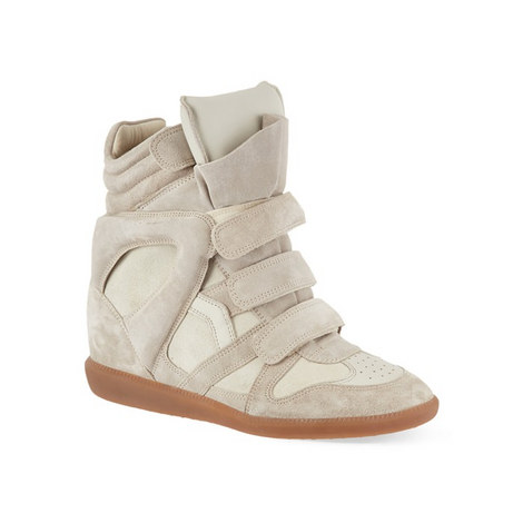 Bekett Suede Wedge Trainers, ${color}