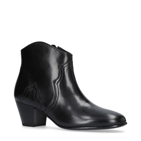 Dicker Leather Ankle Boots, ${color}