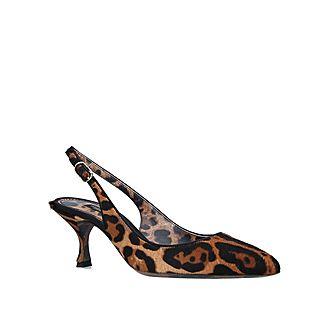 Leopard-Print Slingbacks